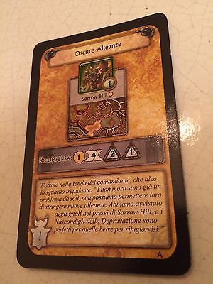 World Of Warcraft/Wow Oscure Alleanze Carta Alleanza Gioco Boardgame Cards