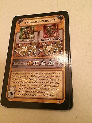 World Of Warcraft/wow Battistrada Dell Entroterra Carte Orda Boardgame Cards