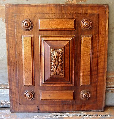 PANEL 19 in RARE ANTIQUE FRENCH VICTORIAN GOTHIC HAND CARVED WOOD PEDIMENT 1