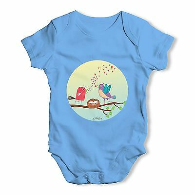 Twisted Envy Singing Spring Birds Baby Unisex Funny Baby Grow Bodysuit