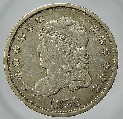 """1829 Capped Bust Silver Half Dime in """"VF/XF"""" Condition (p51.3)"""