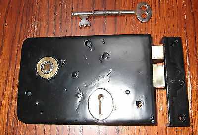 Refurbished Lock With  Key And Cast Iron  Keep
