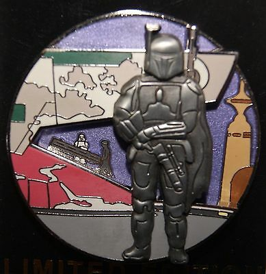 Disney Star Wars Pin Of The Month Bespin Pin #7 BOBA FETT NEW ON ORIGINAL CARD
