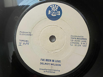 "Delroy Wilson I've Been In Love Vintage Reggae 7"" Vinyl Single"