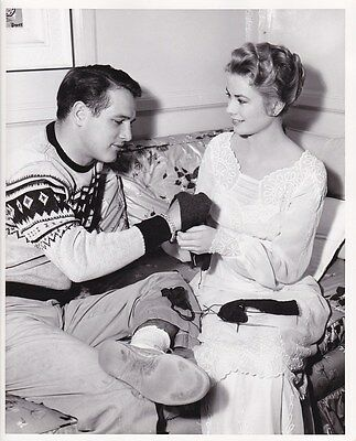 GRACE KELLY PAUL NEWMAN Original CANDID Dressing Room Vintage 1956 MGM DW Photo