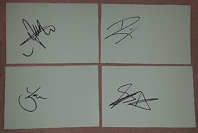 "All Time Low Autograph Band Fully Hand Signed ""6X4"" Card"