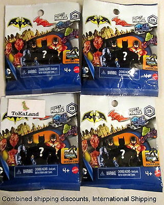 A6-7 Batman Unlimited Mighty Mini's Blind Pack Figures Series 3 lot of 4