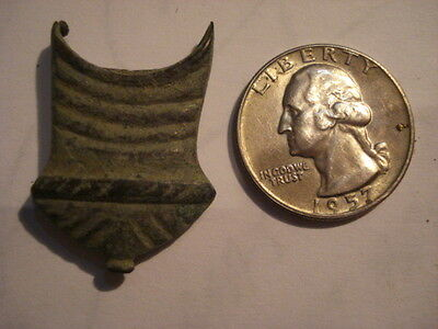 As found beautiful Roman bronze dagger chape stunning decorated ancient artifact