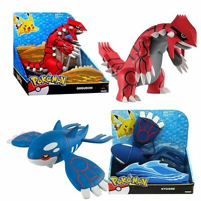 Pokemon 13884 Groudon and Kyogre Action Figures (Large, Set Of 2)