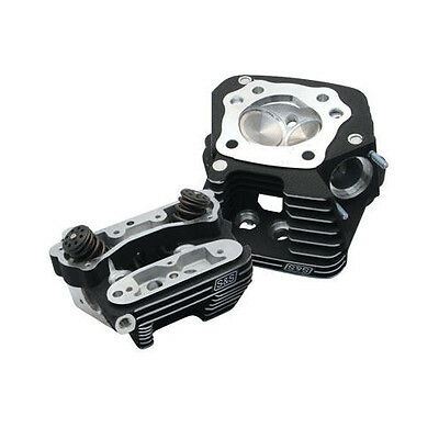 S&S Super Stock Cylinder Heads Black Harley FLSTC Heritage Softail Classic 88-99