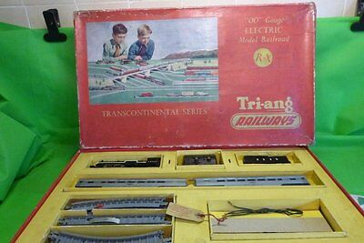 Triang R7X Transcontinental Series Set With Tr 2335 Locomotive 1956 Boxed + Pape