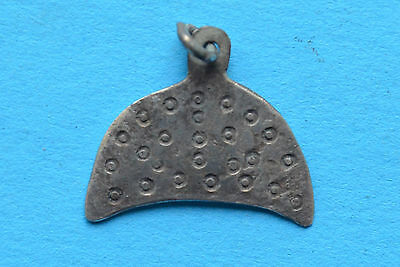 Ancient  Viking Period Lunnar Moon-shaped Silver Pendant