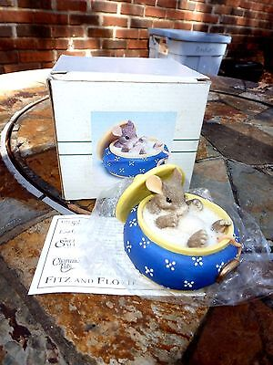 "Charming Tails Mouse Rat In Sugar Bowl Figurine ""you Couldnt Be Sweeter"" In Box"