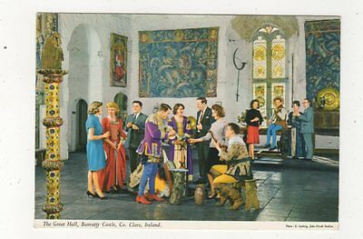 The Great Hall Bunratty Castle Co Clare Ireland 1971 Postcard 876a