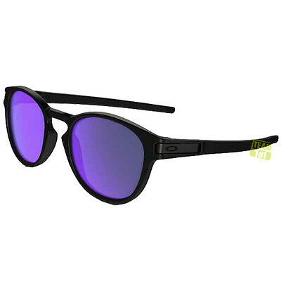 Oakley Occhiali Sole Donna Moonlighter nero opaco violetto Irid