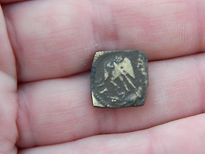 Post Medieval bronze Gold coin weight Tudor Angel metal detecting detector