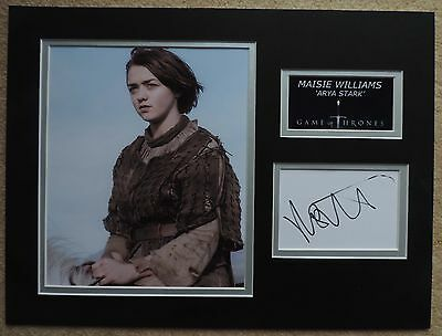 Maisie Williams - Game Of Thrones - Xmas Offer - Superb Signed Display - Coa