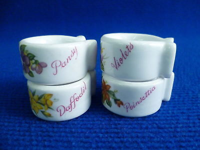 Queens Floral Set Of 4  Napkin Rings