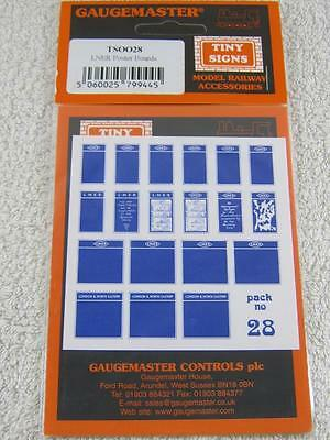 Gaugemaster 00/HO Gauge TSOO28 Tiny Signs Pack No.28 Track Accessory NEW