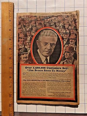 1920's Fence and Farm Supply Catalog. 64 pages. Illustrated.