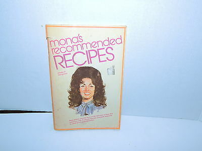 """1973 Monas Recommended Recipes """"signed"""""""