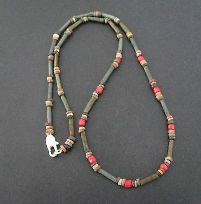 NILE  Ancient Egyptian Glass and Mummy Bead Necklace ca 600 BC