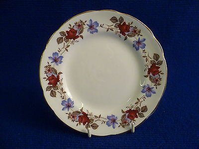 SUTHERLAND BLUE AND RED FLORAL 15.5cm TEA PLATES