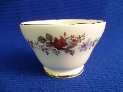 SUTHERLAND BLUE AND RED FLORAL 10.5cm SUGAR BOWL