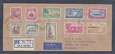 1952 Western Samoa Registered First Day Cover - Scott #203-212 (SG #219-228)