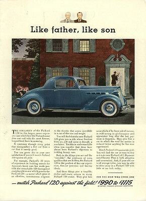 Like father, like son Packard 120 Coupe ad 1936