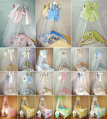 Canopy Drape with Bow / Mosquito tulle Net - 320cm wide to fit baby cot/bed/crib