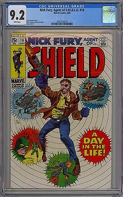 Nick Fury Agent of Shield #14 CGC 9.2 NM- Wp Marvel Comics 1969 Herb Trimpe Art