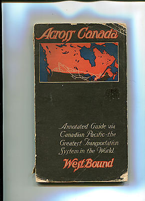 Vintage Guide Book CANADIAN PACIFIC RAILWAY 1914 ACROSS CANADA railroad