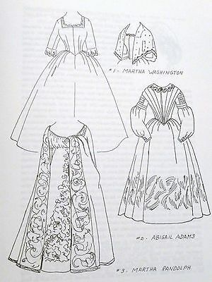 America's First Lady Fashions~1789-1865~Wish Booklet Patterns~Doll & Costumes