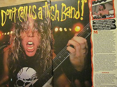 Metallica, Two Page Vintage Clipping