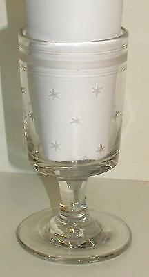 Early 19th century glass rummer, engraved stars c1820