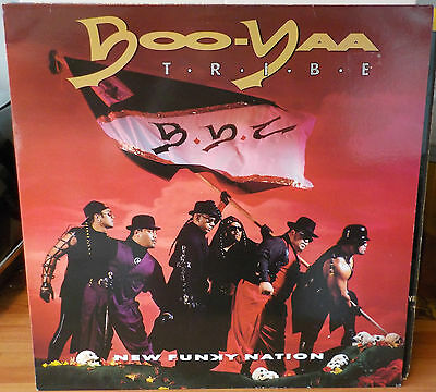 Boo Yaa Tribe New Funky Nation Classic 1990 West Coast Hip Hop Rap Vinyl Lp Nm