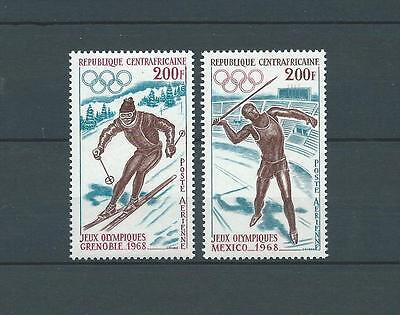 CENTRAFRICAINE - 1968 YT 57 à 58 PA - TIMBRES NEUFS** MNH LUXE