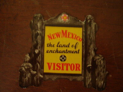 Old Vintage 1950's New Mexico Land Of Enchantment Visitor Auto Sticker Decal
