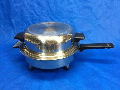 Lifetime Electric Skillet Model #17906 900w Liquid Core Stainless Steel