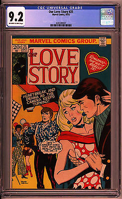 Our Love Story #25 CGC 9.2 OW/W Lone highest graded copy!!!