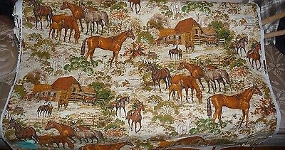 Horse Upholstery Drapery Fabric by the Yard