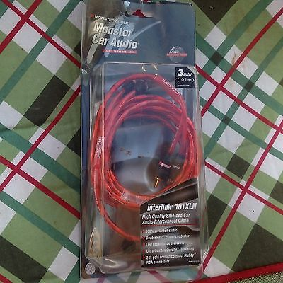 Monster Car Audio System Interlink 101XLN Cable 10ft