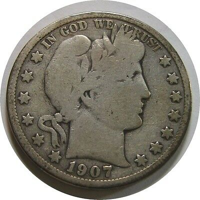 elf Barber Half Dollar 1907  O