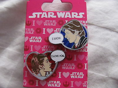 Disney Trading Pins 113240 Han and Leia Valentines 2016
