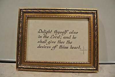 Picture Frame with Bible Passage Psalms 37:4 John 15:7