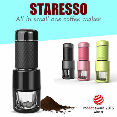 STARESSO Portable Manual Coffee Maker Cappuccino Espresso Mini All in One
