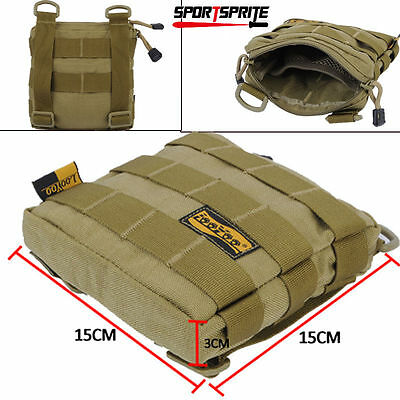 Tactical Molle Shoulder Waist Bag Accessory Pouch For Tactical Vest Backpack Tan