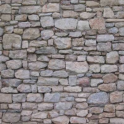 8 SHEETS EMBOSSED BUMPY STONE wall 21x29cm 1 Gauge 1/32 CODE 34T6