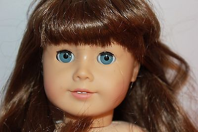 """AMERICAN GIRL DOLL MISSING LEG Beautiful in all other ways BROWN HAIR BLUE 18"""""""